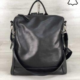 Кожаная сумка-рюкзак Taua черного цвета