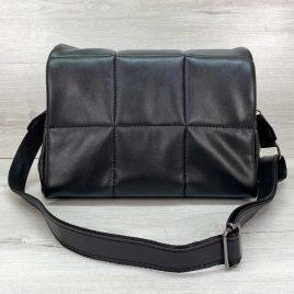 Женская черная стеганая сумка Камила