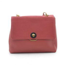 Женская красная сумка среднего размера David Jones CM5417T red