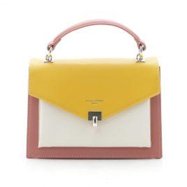 Клатч David Jones CM5663T yellow желтый с розовым