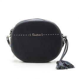 Клатч черный круглая кросс боди David Jones 6128-1 black