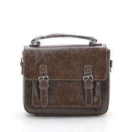Клатч-портфель коричневого цвета в винтажном стиле