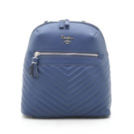 Рюкзак городской стеганый синий David Jones CM5423T d. blue