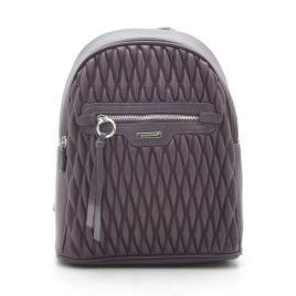 Рюкзак стеганый David Jones 6152-4T d. purple сливовый