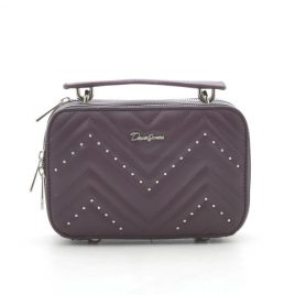 Клатч на цепочке David Jones CM5416T d. purple сливовый