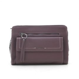 Клатч David Jones TD004 dark bordeaux бордовый