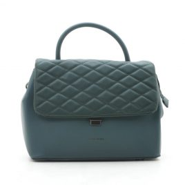 Зеленая стеганая сумка David Jones CM5427 d. green
