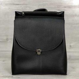 Сумка-рюкзак Елима черного цвета