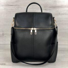 Сумка-рюкзак Фролен черного цвета