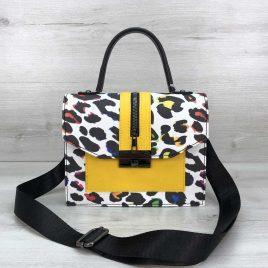 Яркая сумка Dazy разноцветный леопард с желтым