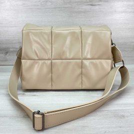 Женская бежевая стеганая сумка Камила