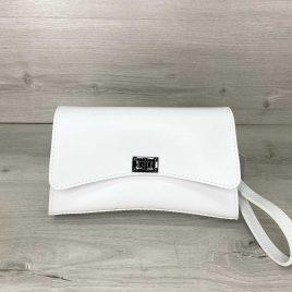 Белая сумка на пояс Пэт