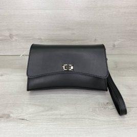Черная сумка на пояс Пэт