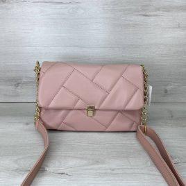 Женская розовая сумка Паркер стеганый клатч