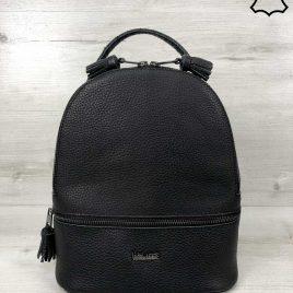Кожаный рюкзак Rishel черного цвета