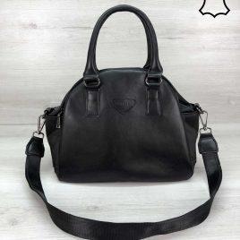 Кожаная сумка Elly черного цвета