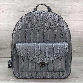Классический рюкзак Britney голубой крокодил