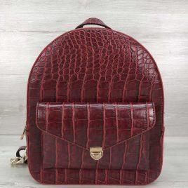 Классический рюкзак Britney красный крокодил