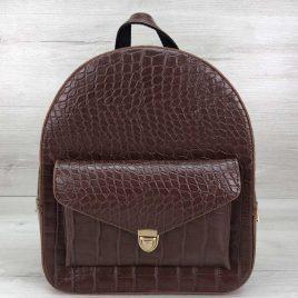 Классический рюкзак Britney коричневый крокодил