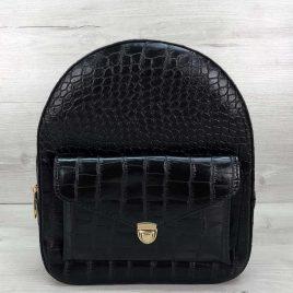 Классический рюкзак Britney черный крокодил